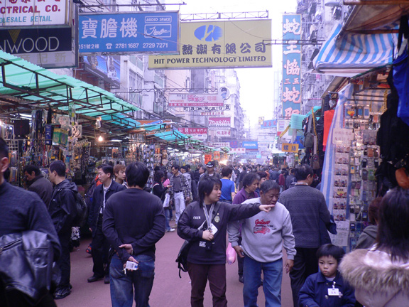 Shoppers on Ap Liu Street