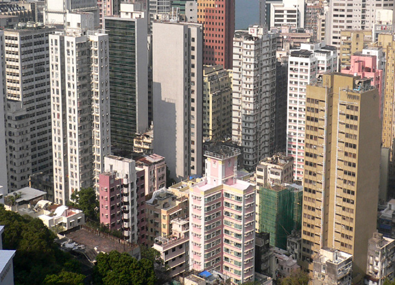 Back of buildings, Wanchai