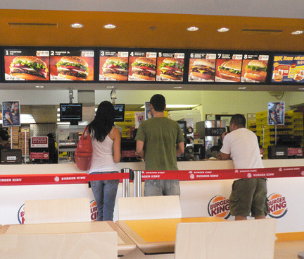 Counter Waiter Fast Food