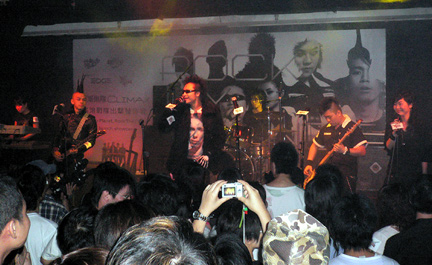 CLIMAX performing their first song