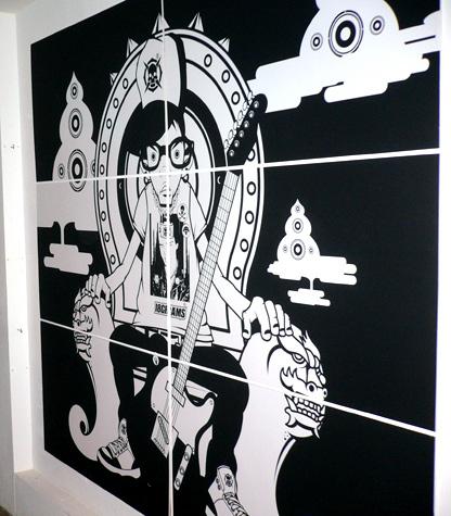 Cool throne illustration on 6 panels.