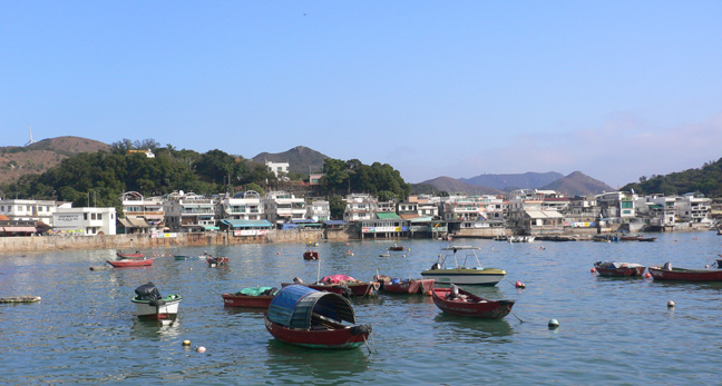 View from the arriving ferry