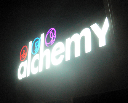 Alchemy club Manila Sign