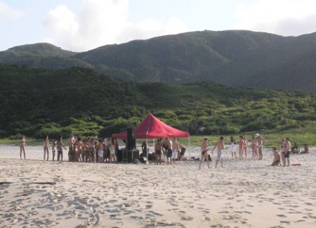 Beach party dj tent