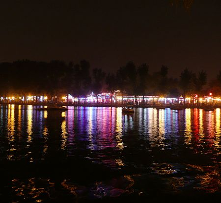 China Beijing Houhai lake n