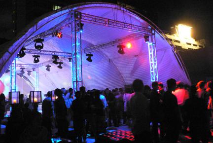 Clot Anniversary tent view