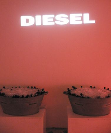 Diesel event buckets beer
