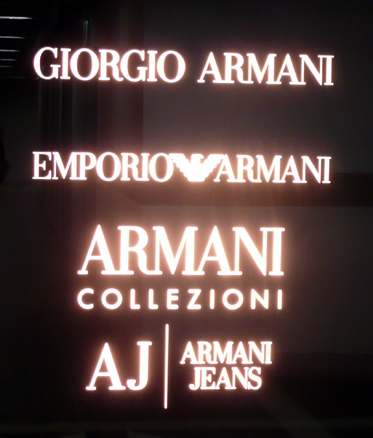 Giorgio Armani outlet Hong