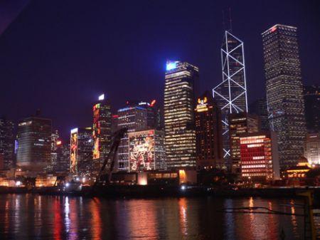 HK building Christmas light