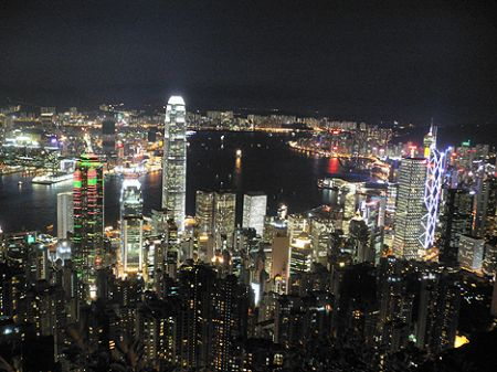 Hong Kong Peak night