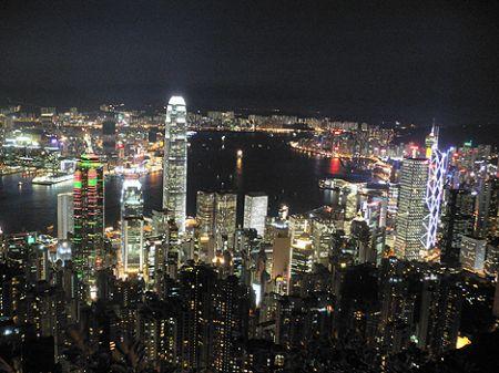 Hong Kong Peak night