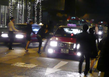 Hong Kong taxi new year eve