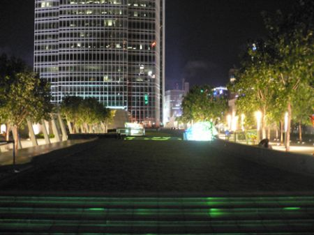 IFC roof garden grass long