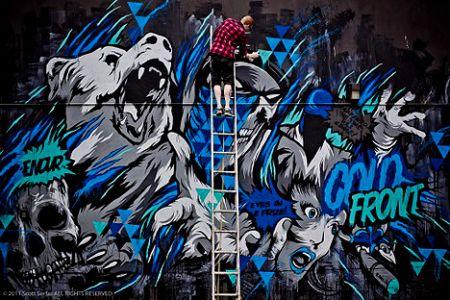 Meggs street art above second hong kong hk artist