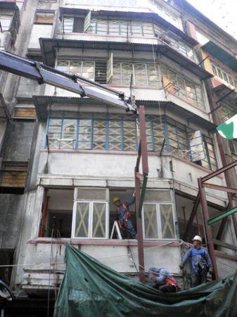 Old Wanchai building Hong