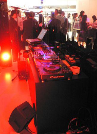 inside DJ booth