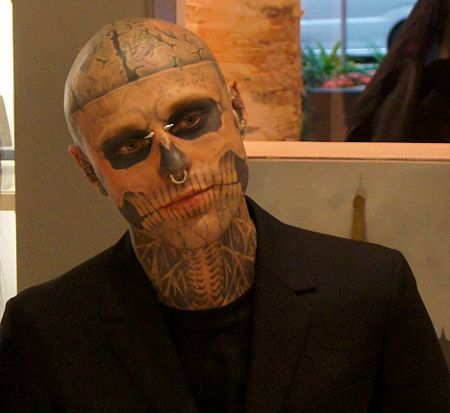 zombie boy tattoo lady gaga rick genest
