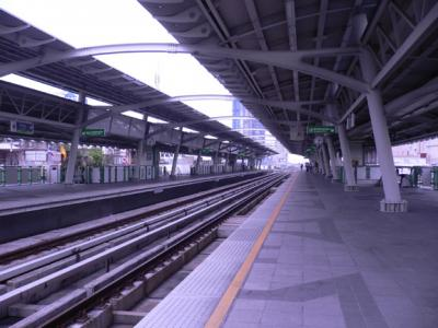 On the BTS Sky Train platform