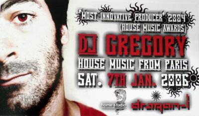 D.J. Gregory at Dragon-i Saturday, January 7th