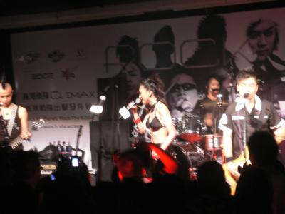 Lots of blurry photos... cool Mohawk on the left!
