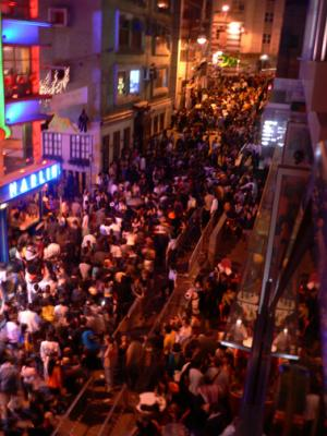 Lan Kwai Fong filled with people