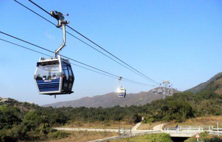Nnong ping cable car hk lantau hong kong
