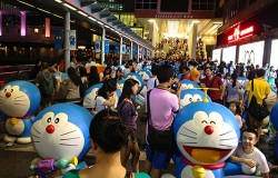 doraemon 100 harbour city hong kong hk mall birthday anniversary