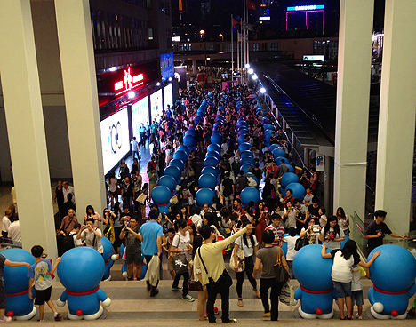 doraemon 100 hong kong hk harbour city shopping mall