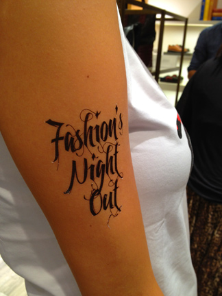 fashions night out temporary tattoo lane crawford hong kong hk