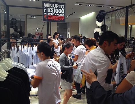 lane crawford hong kong fashion night out hk t alexander wang