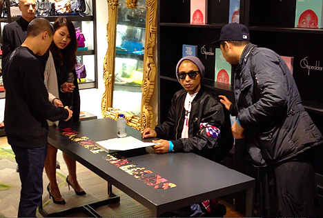 pharrell williams places and spaces ive been book signing