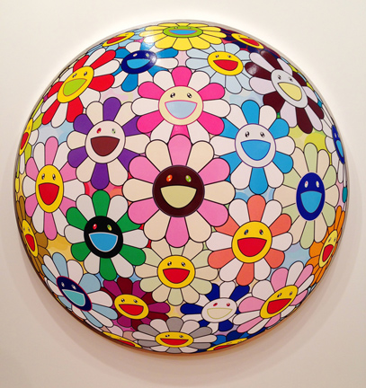 murakami superflat gagosian gallery flowers and skulls china