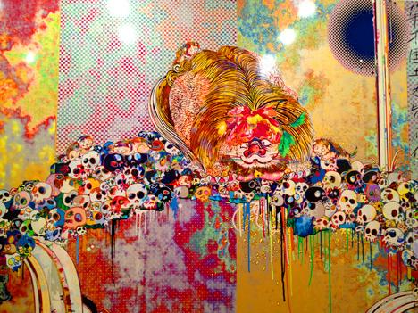 murakami japanese art artist painting art exhibit japan