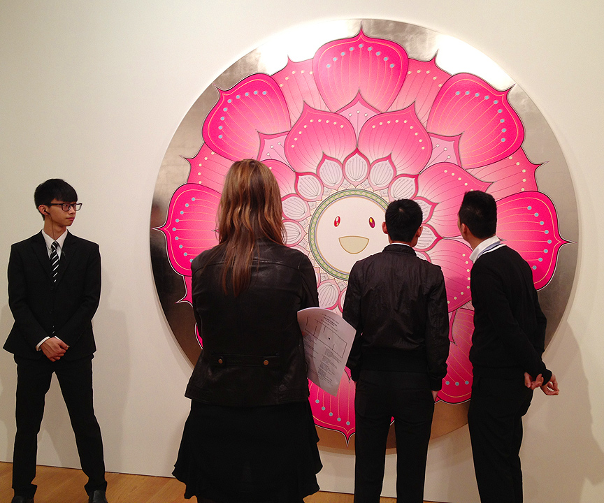 takashi murakami gagosian gallery flowers and skulls hong kong