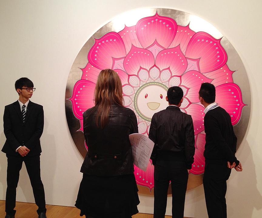 takashi murakami gagosian gallery flowers and skulls hong kong