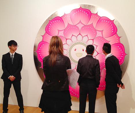 takashi murakami gagosian gallery hong kong hk flowers and skulls