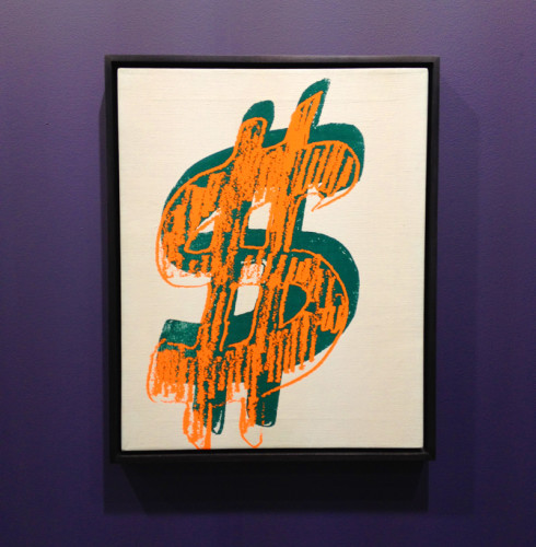 andy warhol dollar sign screen print