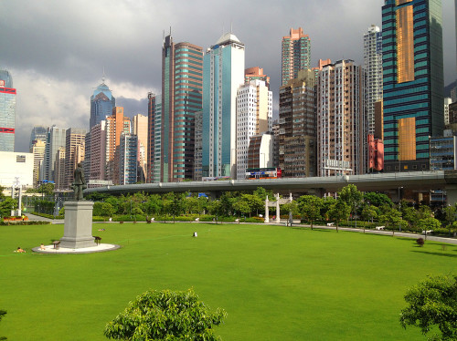 sun yat sen memorial lawn hk hong kong china