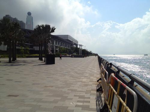 sai ying pun waterfront promenade hk