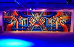 neon golden art exhibit australia street art show above second hong kong