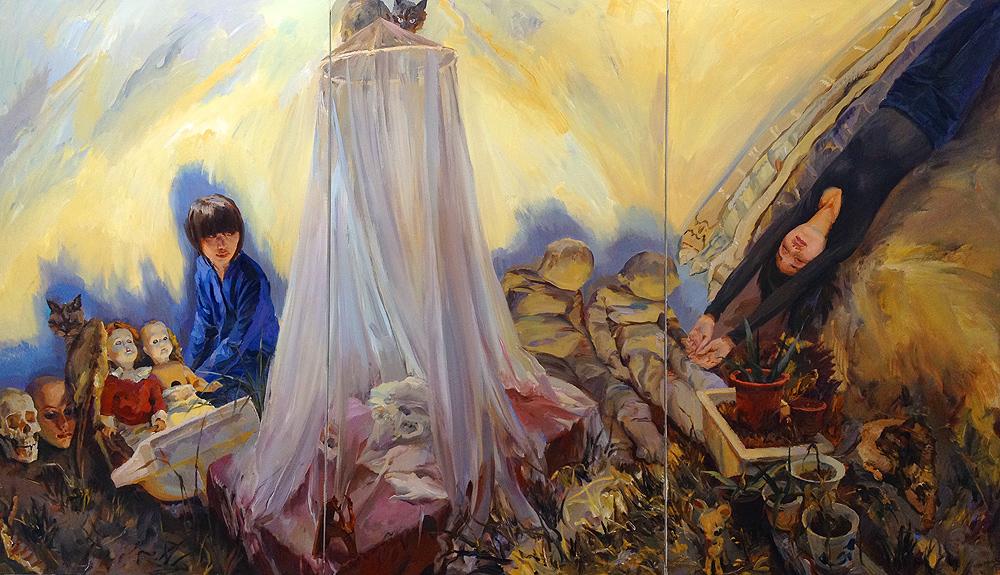 bed night artist yu hong beijing art basel china