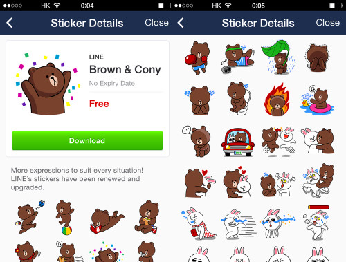 cony brown stickers line app pop up