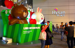 cony brown sticker line pop up store hong kong hk