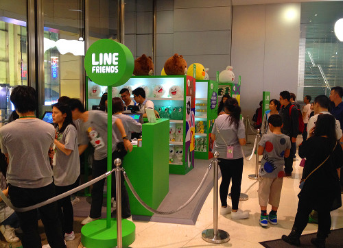 line friends pop up cony brown hong kong