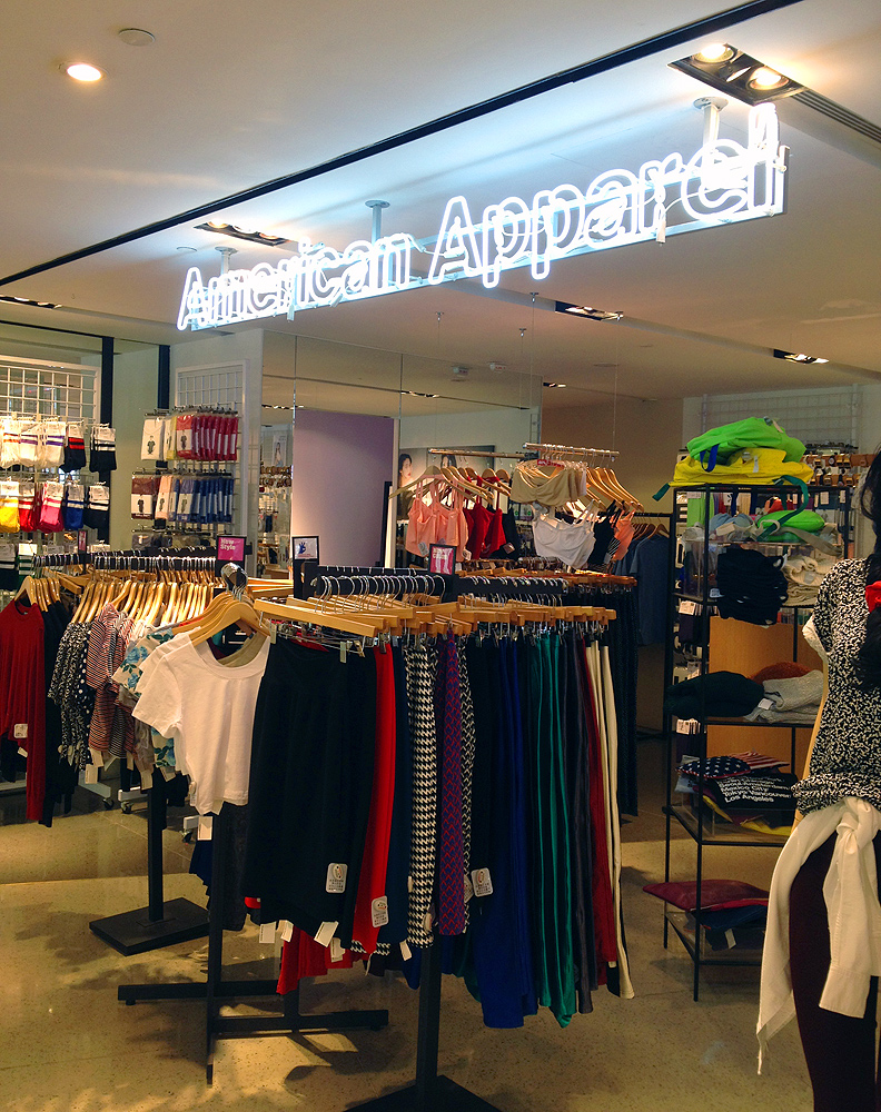 american apparel store hong kong address hk 93 queensway plaza lab concept admiralty