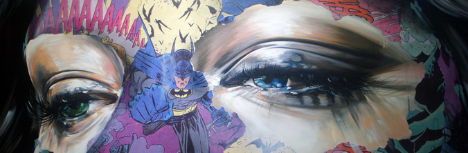 sandra chevrier comic book art crash bam pow